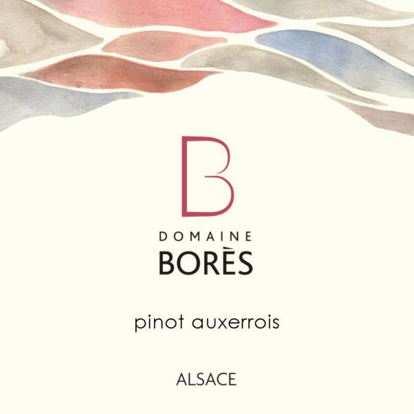 étiquette_pinot_blanc_auxerrois_Vin d'Alsace Domaine Borès Reichsfeld