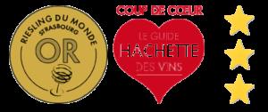 Médaille_du_monde_guide_hachette_coup_de_coeur_riesling_reve_de_pierres_Vin d'Alsace Domaine Borès Reichsfeld