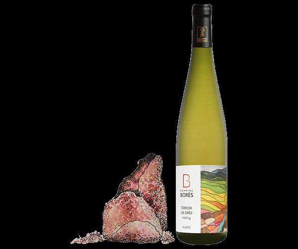 riesling_sandt_vieilles_vignes_Vin d'Alsace Domaine Borès Reichsfeld