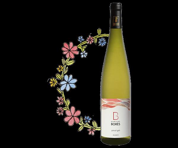 pinot gris Vin d'Alsace Domaine Borès Reichsfeld