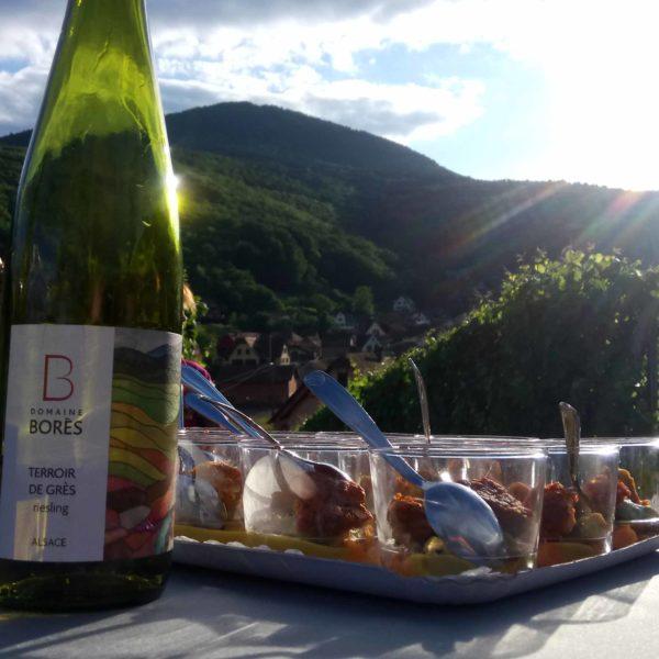 Apéro gourmand Domaine Borès Reichsfeld Accord mets et vins
