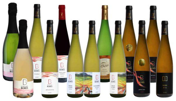 apercu colis de noel Domaine Borès Vin d Alsace Reichsfeld