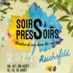 Theatre et vin dans les vignes Soirs à Pressoirs 2021 au Domaine Borès Reichsfeld Alsace